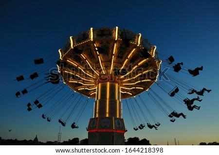 Carousel in Tivoli Gröna Lund, Stockholm Royalty-Free Stock Photo #1644218398