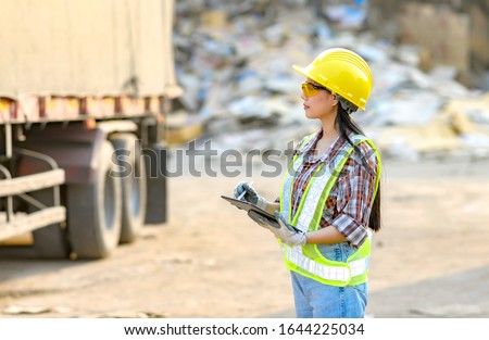 Stock keeper girl Currently using the product tablet Before exporting for sale #1644225034