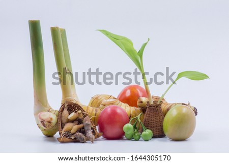 Ingredients for cooking, boiling, Ingredients Thai food style #1644305170