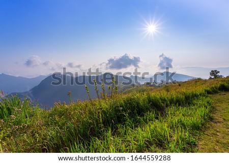 Mountain landscape in asia,Thailand, Asia, Landscape - Scenery, Sunrise - Dawn, Rainforest #1644559288