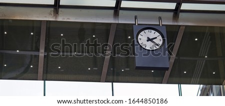 Clock at Station. on the morning time