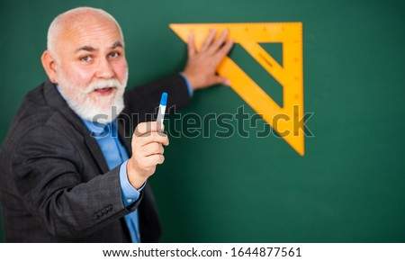 Drawing tips. Become lifelong learners. Man bearded tutor chalkboard background. Mature lecturer share knowledge. Stem knowledge. Knowledge concept. Investigation and research. How succeed in math. #1644877561
