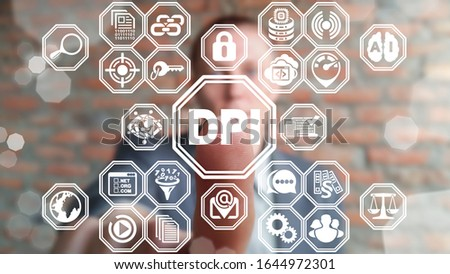 DPI Deep Packet Inspection Digital Data Internet Control Concept. Online Web Packet Inspection Сomplete Information Extraction Technology.
