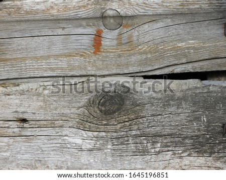 Old weathered rotten boards. Natural natural gray textured wood surface #1645196851