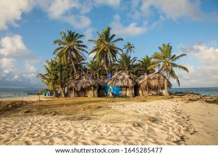 Paradise huts on a paradise island #1645285477