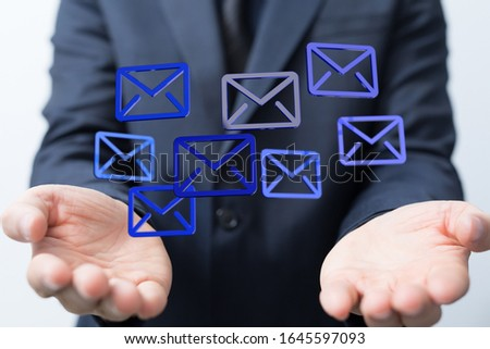 email icons in work space 3d #1645597093