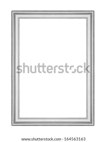 silver picture frames. Isolated on white background