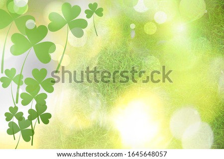 Beautiful design with clover leaves, bokeh effect. St Patrick's day