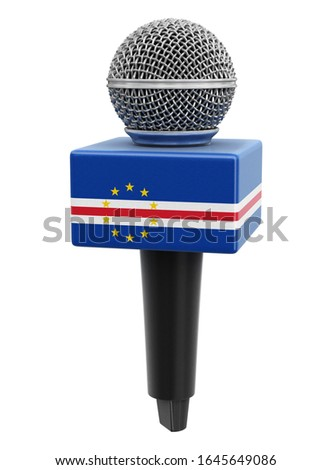 3d illustration. Microphone and Cape Verde flag. Image with clipping path