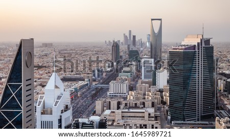 Kingdom of Saudi Arabia Landscape by day - Riyadh Tower Kingdom Center - Kingdom Tower - Riyadh skyline - Riyadh by day #1645989721
