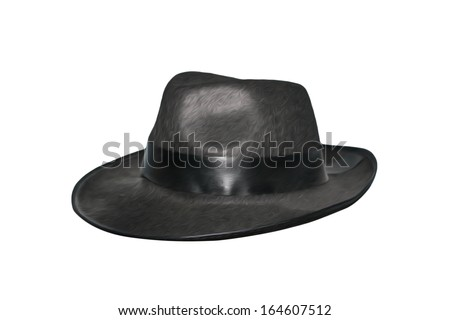 A black hat isolated on white #164607512