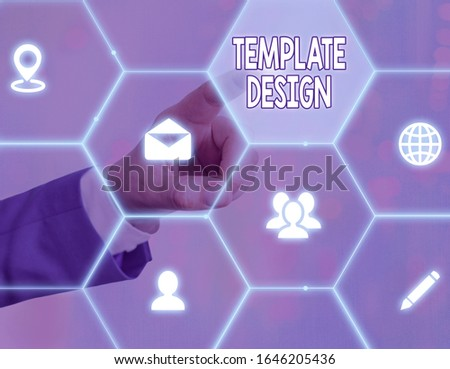 Word writing text Template Design. Business concept for an overall layout or blueprint with a format to be used. #1646205436