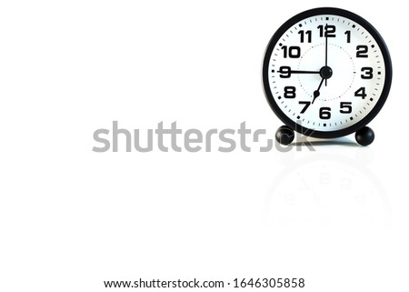 Classic clocks placed on a white background with space for placing things. #1646305858