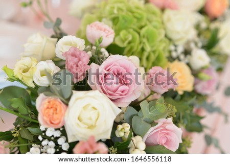 wedding flower arrangements on the table  #1646556118