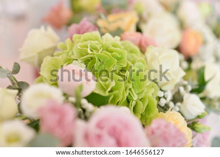 wedding flower arrangements on the table  #1646556127
