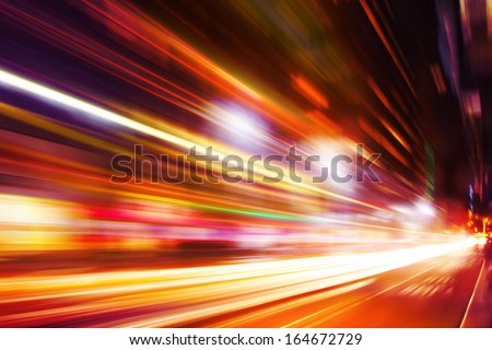 Abstract image of night traffic in the city. #164672729