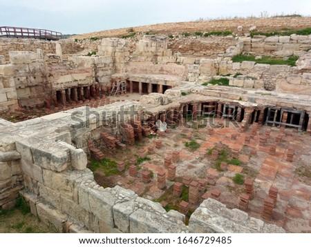 ancient ruins of an ancient public bath #1646729485