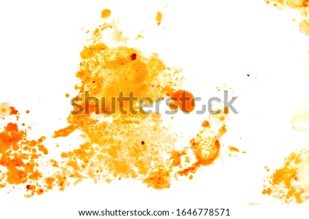 Greasy oil stains on a white background. Royalty-Free Stock Photo #1646778571