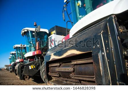 Farm machinery on a farm in the winter #1646828398