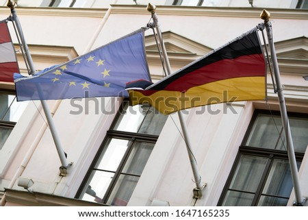 European Union flag as background. Royalty-Free Stock Photo #1647165235