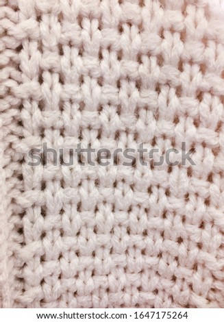 White Knitting Texture or Knitted Texture Background. Knitting Texture or Knitted Texture in vintage style for design    #1647175264
