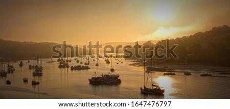 Misty Sunrise over The Estuary In Salcombe, Devon, U.K #1647476797