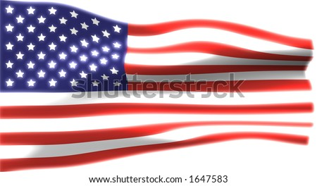 United Stats of America Flag (over white) #1647583