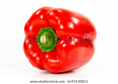 red capsicum fruit illustrating a healthy lifestyle isolated on white background #1647630811