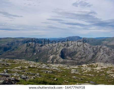 Heilhornet, Norway. View from the ascent to the top.  #1647796918