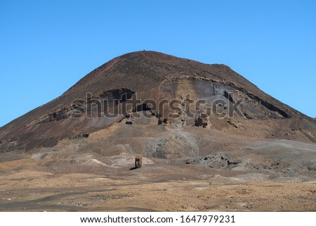 Calhau volcano crater in Cape Verde in a shape of skull shape #1647979231