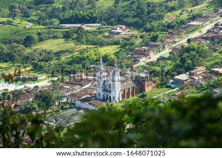 Church of the Sacred Heart of Mary, Jerico, Antioquia.  #1648071025