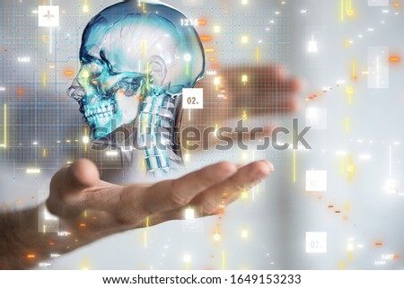 medical network connection with modern virtual screen, medical technology network concept #1649153233