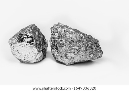 Palladium is a chemical element that at room temperature contracts in the solid state. Metal used in industry. Mineral extraction concept. #1649336320