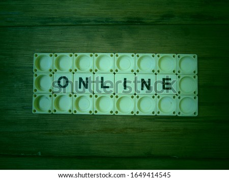 Online, word cube with background. #1649414545
