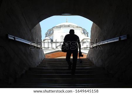 Silhouette photography-Sokullu Mehmet Pasha Mosque (İstanbul, Turkey)  #1649645158
