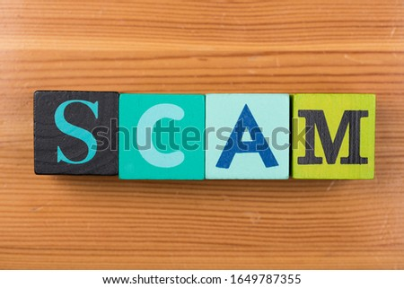 word scam with cubes colours #1649787355