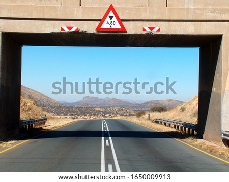 Landscape picture framed by the bridge
