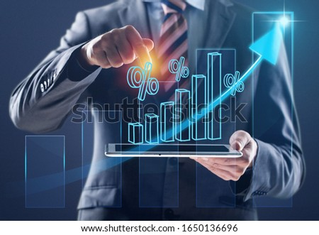 Businessman hands using a digital tablet #1650136696