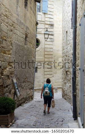 Alley in Uzes, Provence , France                                #1650201670