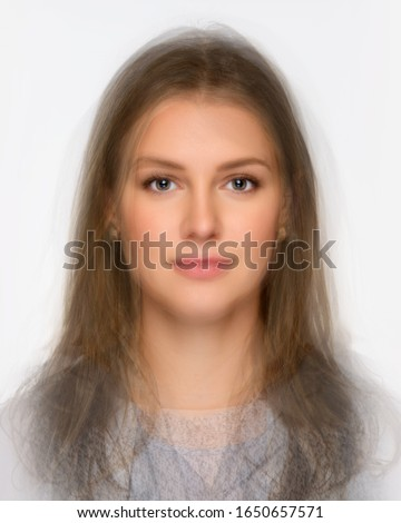 morphed photo - average face of a woman