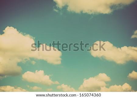 Blue sky vintage background