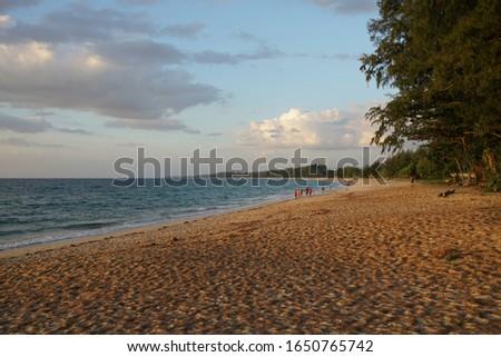 Beautiful beach seashore in Phuket Thailand full frame pic