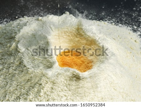 Wheat Flour and Eggs,  Ingredients for Cake Recipe   #1650952384