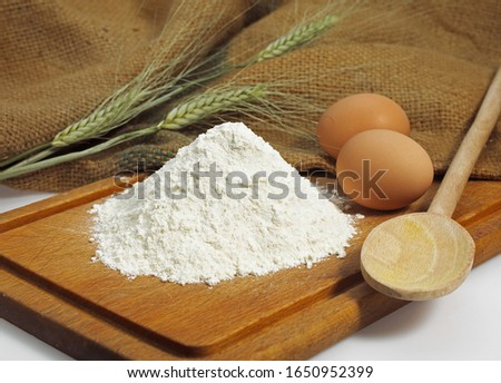 Wheat Flour and Eggs,  Ingredients for Cake Recipe   #1650952399