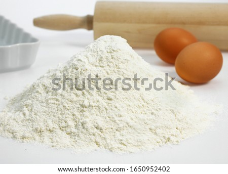 Wheat Flour and Eggs,  Ingredients for Cake Recipe   #1650952402