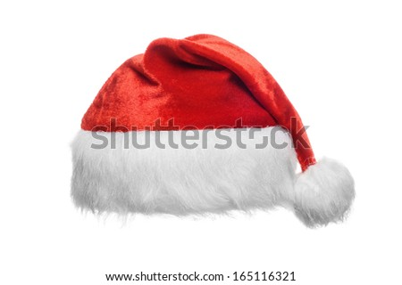 Red santa hat, isolated on white #165116321