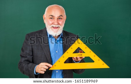 Become lifelong learners. Man bearded tutor chalkboard background. Mature lecturer share knowledge. Stem knowledge. Knowledge concept. Investigation and research. How succeed in math. Drawing tips. #1651189969