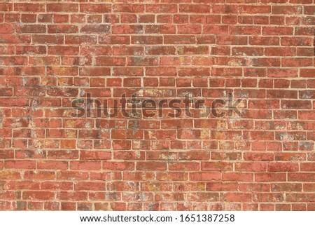 worn textured brick wall facade #1651387258