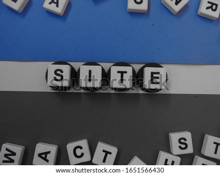 Site, word cube with background. #1651566430
