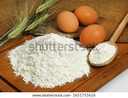 Wheat Flour and Eggs, Cake Ingredients   #1651755616